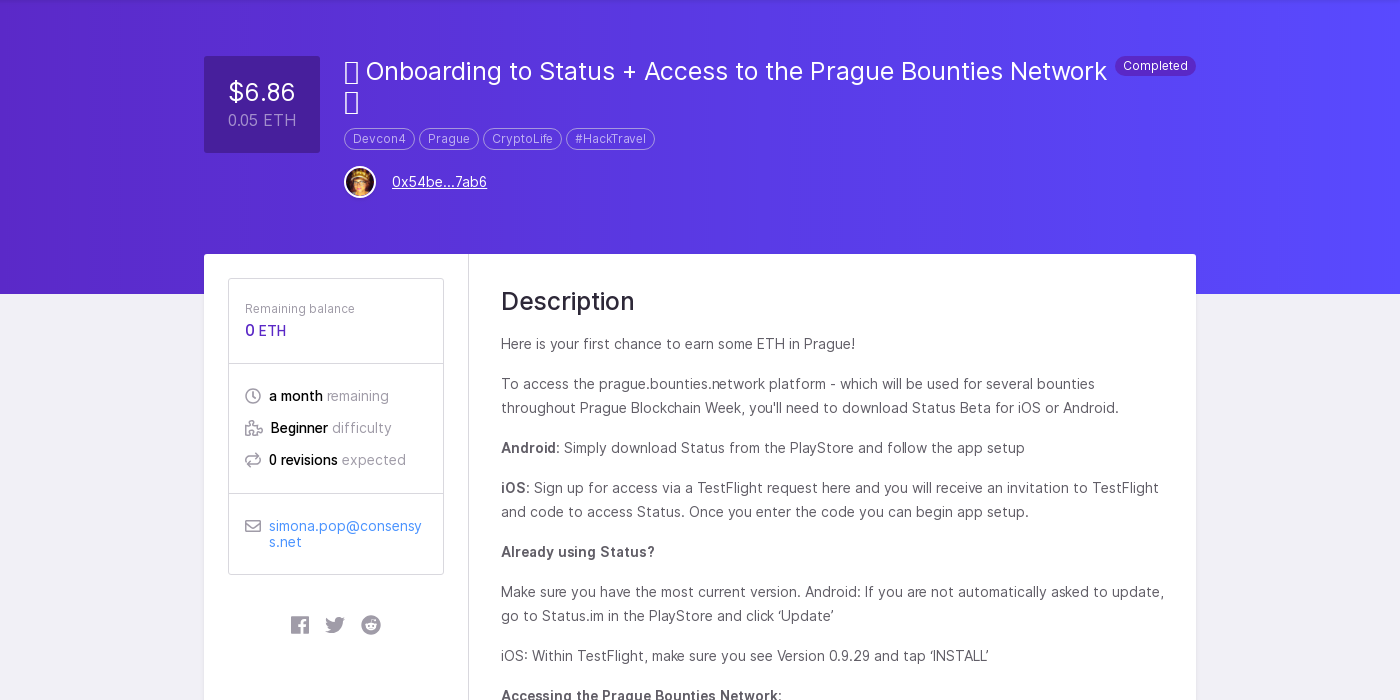 🔥 Onboarding to Status + Access to the Prague Bounties