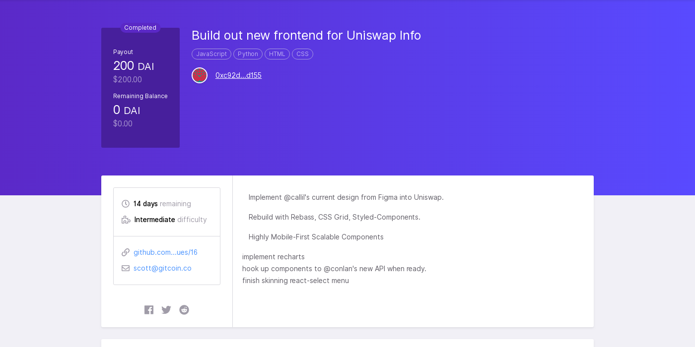 Build out new frontend for Uniswap Info